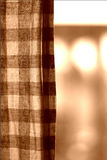 Curtain. And morning lights Royalty Free Stock Image