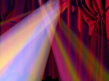 Curtain. Background on a theme of representations and concerts Royalty Free Stock Photography
