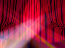 Curtain. Background on a theme of representations and concerts Stock Photo