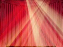 Curtain. Background on a theme of representations and concerts Royalty Free Stock Photos