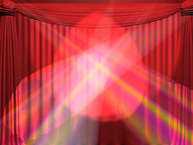 Curtain. Background on a theme of representations and concerts Stock Images