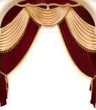 Curtain. Red theater curtain Royalty Free Stock Photography