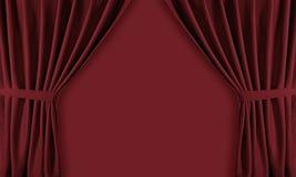 Curtain. Cinema opera and theater curtain Stock Photos