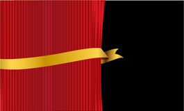 Curtain with banner Royalty Free Stock Images