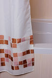 Curtain in the bathroom Royalty Free Stock Photography