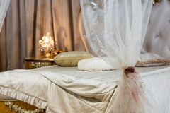 Curtain in the bedroom Stock Image