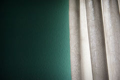 Curtain with blank space need your decoration stuffs to putting Royalty Free Stock Images