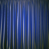 Curtain blue color Royalty Free Stock Photo