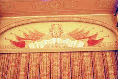 Curtain in Bolshoy Theater in Moscow. Stock Image