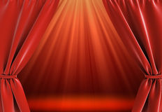 Curtain and bright stage Royalty Free Stock Photo
