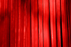 Curtain Call. Red velvet stage curtain in a theatre Royalty Free Stock Photography