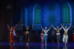 "The curtain call- ballet ""One Thousand and One Nights"" Royalty Free Stock Photo"