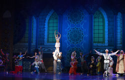 """The curtain call- ballet """"One Thousand and One Nights"""" Royalty Free Stock Photography"""