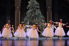 The curtain call of the snow girl-The Ballet  Nutcracker Royalty Free Stock Images