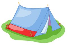 Curtain of camping Royalty Free Stock Images