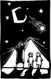 Curtain Children stock illustration