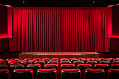 Curtain in the cinema Royalty Free Stock Image