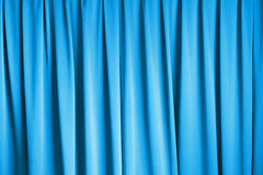 Curtain of cinema stage background, blue dramatic tone Stock Photography