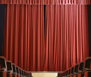 The curtain is closed Royalty Free Stock Photo
