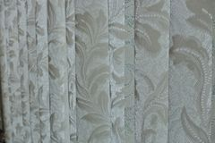 Curtain. Closeup texture on white curtain Stock Photo