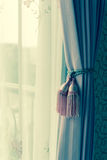 Curtain with curtain tieback Royalty Free Stock Photos