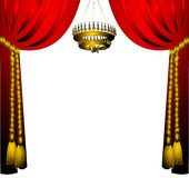 The Curtain with cyst Royalty Free Stock Photos