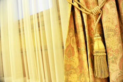 Curtain decorative tassel Royalty Free Stock Photo