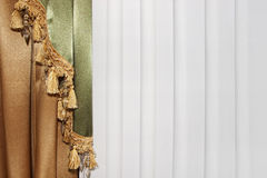 Curtain drape Stock Image
