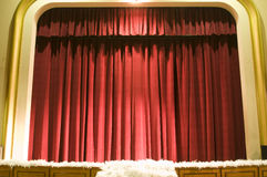 Curtain or drapes red background Stock Photography