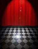 Curtain and floor Royalty Free Stock Photo