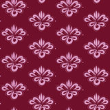Curtain with floral ornament Stock Images