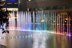 Curtain Fountain. Dancing fountain at KLCC tower Stock Image