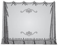 Curtain frame Stock Image