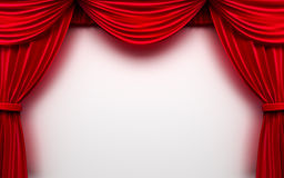 Curtain frame background. Red curtain frame on white background vector illustration
