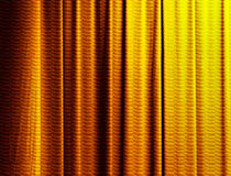 Curtain in gold Stock Image