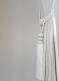 Curtain with a holding strap Stock Photography