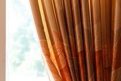 Curtain home decor. Curtain drapery interior home decoration on window Stock Photos