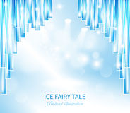 Curtain ice fairy tale Stock Images