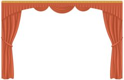 Curtain, isolated Stock Photography