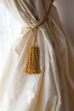 Curtain of ivory silk Royalty Free Stock Image