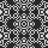 Curtain lace seamless pattern texture - black and white Stock Image
