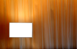 Curtain and lamp. A Curtain and a lamp Stock Photo
