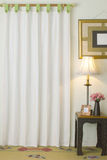 Curtain in living room Stock Image