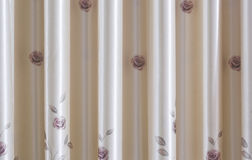 A curtain in living room Royalty Free Stock Photo