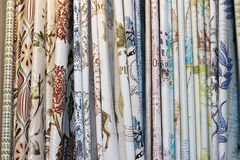 The curtain materials Royalty Free Stock Photos