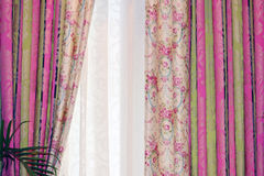 The curtain materials Royalty Free Stock Images