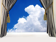 Curtain open to sky Royalty Free Stock Images