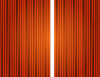 Curtain orange closed with light spots Royalty Free Stock Photos