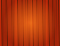 Curtain orange closed with light spots Stock Photos