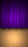 Curtain and parquet Stock Image